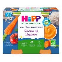 Hipp - Petits pots risotto de légumes dès 8 mois 2x190g