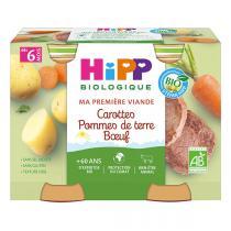 Hipp - Pots carottes pommes de terre boeuf dès 6 mois 2x190g