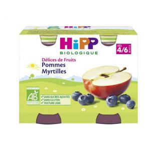 HiPP - 2 Pots Apple Blueberry 2 x 190g