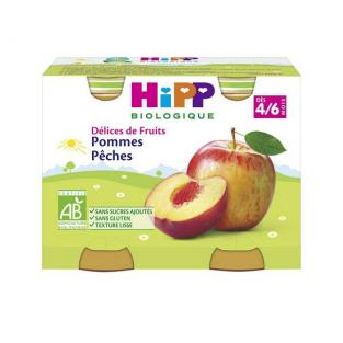 HiPP - 2 Pots Apple Peach 2 x 190g