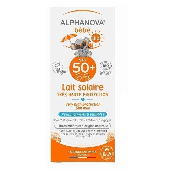 Alphanova - Lait solaire bébé SPF50 50mL