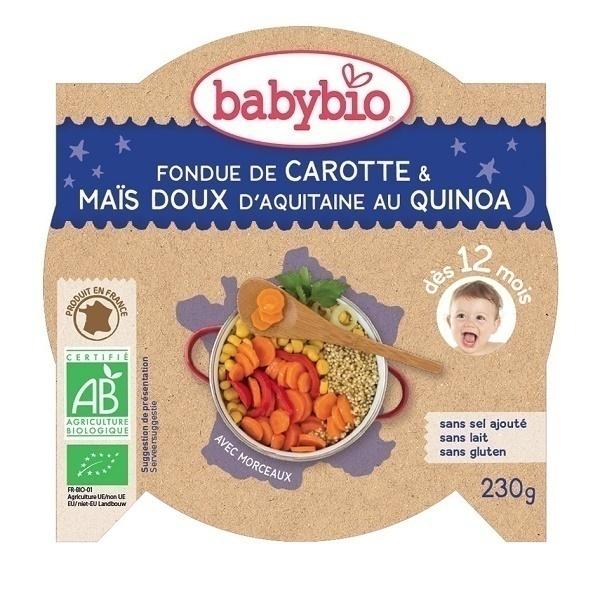 Babybio - P'tit Plat Fondue de Petits Légumes Quinoa, dès 12 mois, 230g