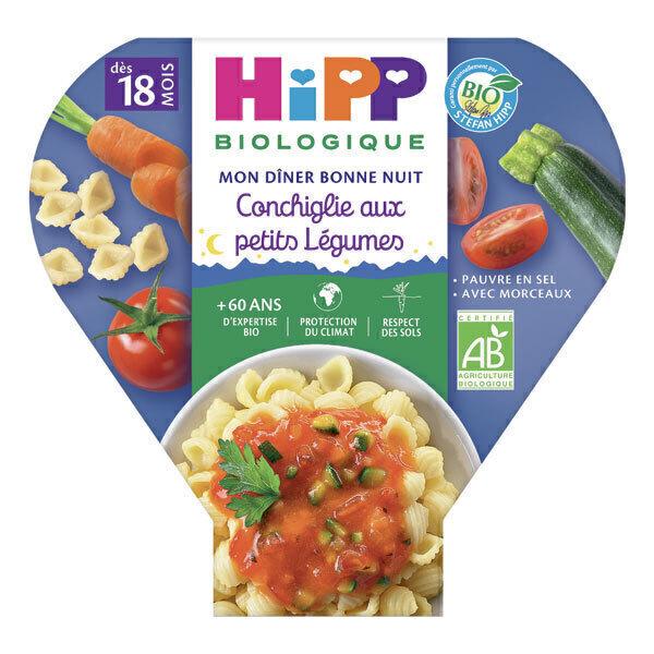 Hipp - 1 Assiette Conchiglie Petits légumes 260g
