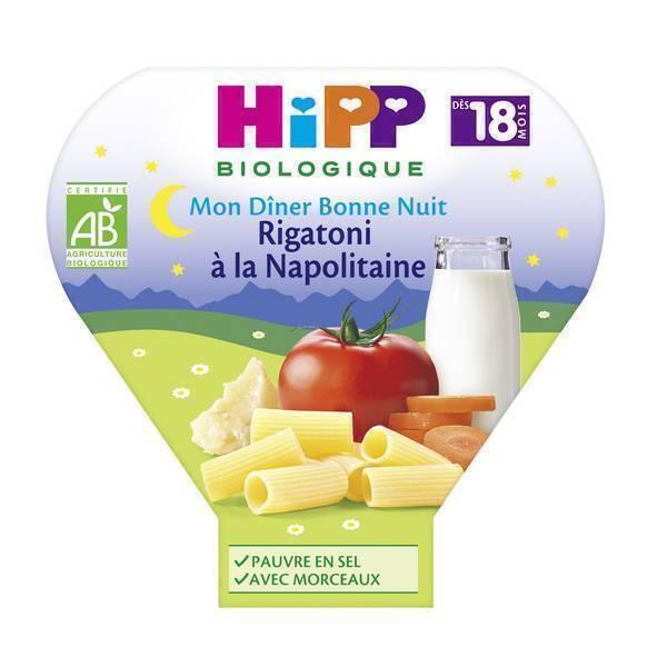 HiPP - 1 assiette rigatoni à la napolitaine 18 mois 260g