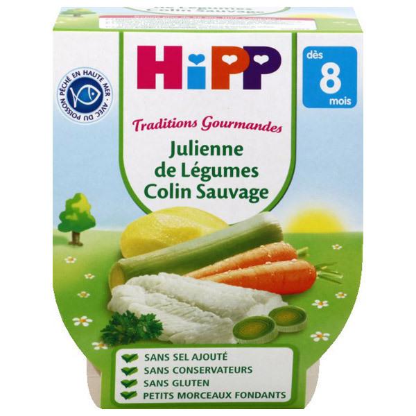 Hipp - 2 Bols Légumes Colin sauvage Bio