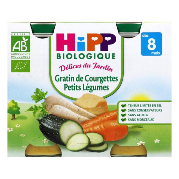 Hipp - 2 Petits pots Gratin courgettes bio