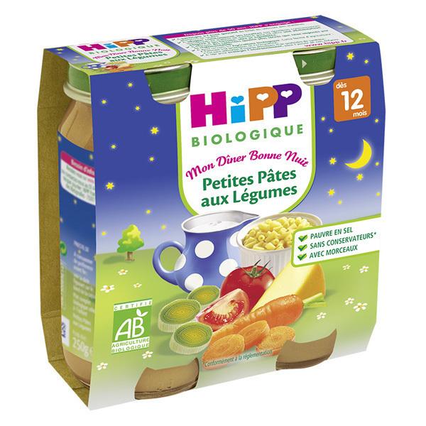 Hipp - 2 Petits pots Petites pâtes légumes