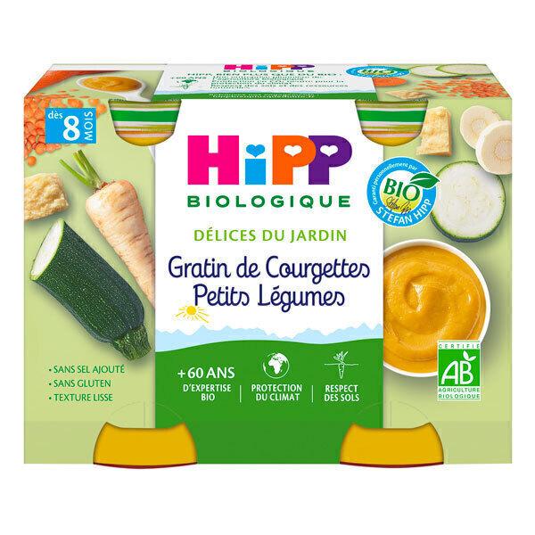 Hipp - 2 pots Gratin de courgettes dès 8 mois - 2x190g