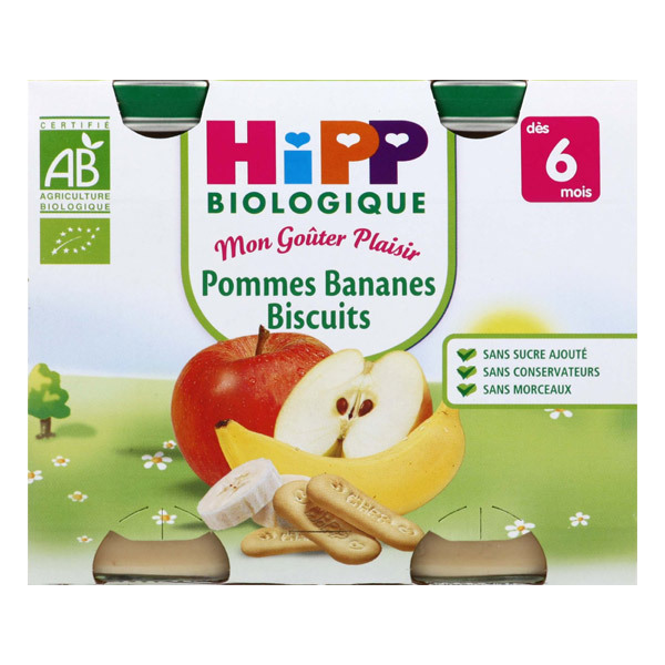 HiPP - 2 Pots Apple Banana Biscuits 2 x 190g