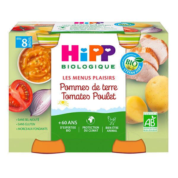 HiPP - 2 pots pommes de terre tomates poulet dès 8 mois - 2x190g
