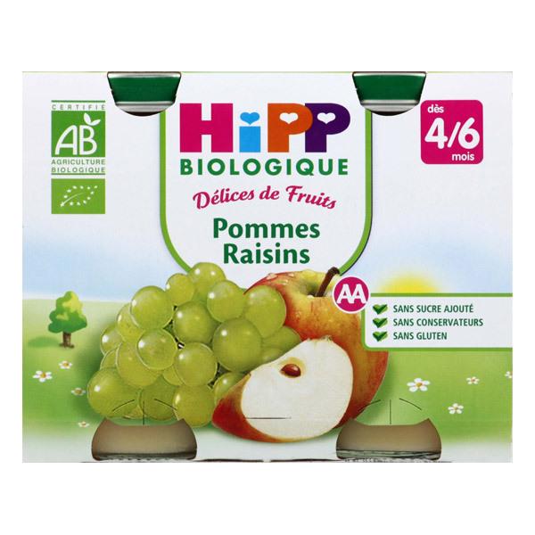 HiPP - 2 Jars Apple Grape 2 x 190g