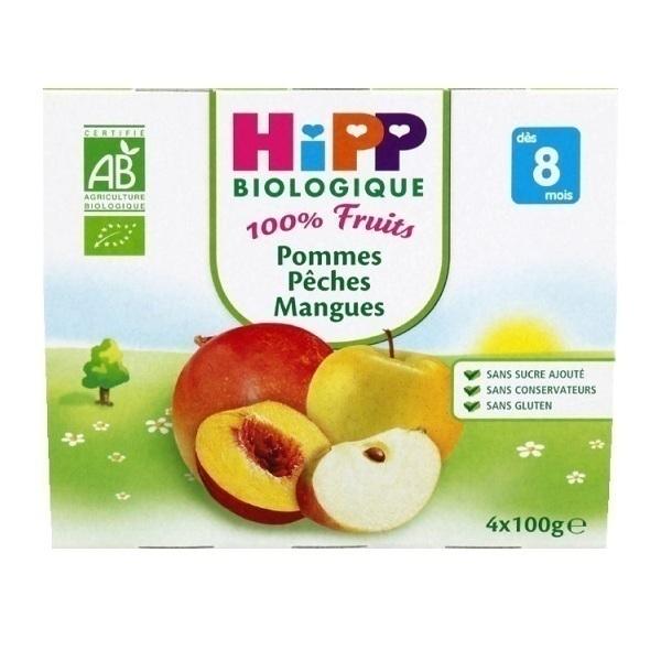 HiPP - 4 Cups Apple Peach Mango