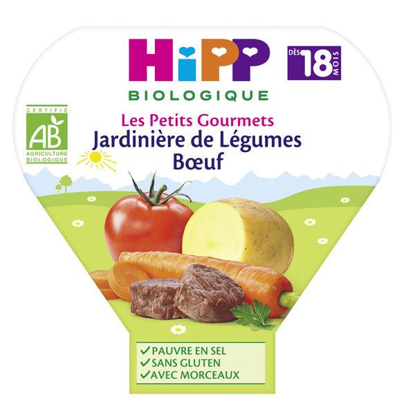 Hipp - 1 Assiette Jardinière légumes/Boeuf