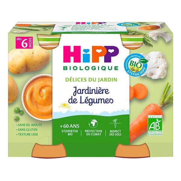 HiPP - Petits pots jardinière de légumes dès 6 mois - 2x190g