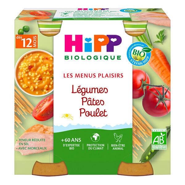 HiPP - Pots légumes pâtes poulet dès 12 mois 2x250g