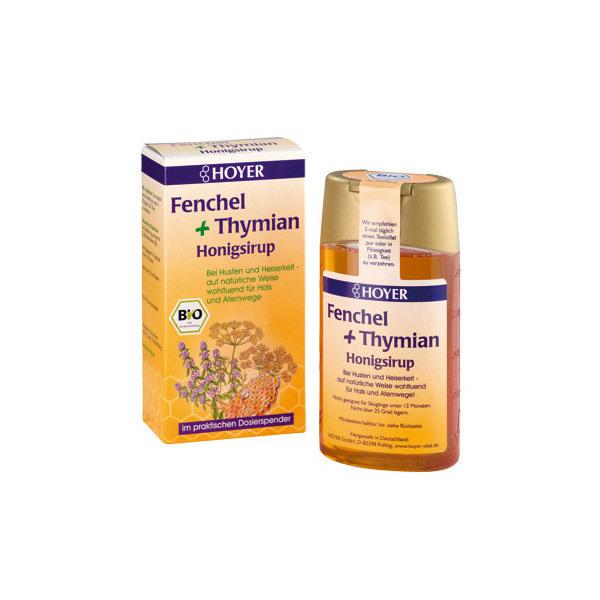 Hoyer - Fenchel & Thymian Honigsirup BIO