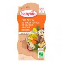 Babybio - 2 Bols Menu Pot au feu Boeuf Dès 12 mois