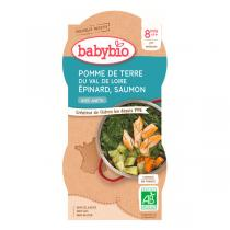 Babybio - Bols épinards saumon 2 x 200g - Dès 8 mois
