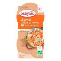 Babybio - Bols Mijoté de Légumes Dinde Riz Dès 8 mois 2 x 200g