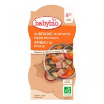Babybio - Bols Moussaka d'Agneau aubergines 2 x 200g - Dès 8 mois