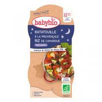 Babybio - Bols Ratatouille Riz Dès 12 mois 2 x 200g