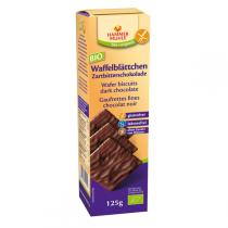 Hammermuehle - Bio Waffelblättchen Zartbitterschokolade 125 gr