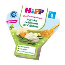 HiPP - 1 assiette Marmite de Légumes Riz Cabillaud 8 mois 200g