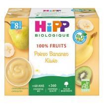 Hipp - Coupelles Poires Bananes Kiwi 4x100g, dès 8 mois, de HiPP