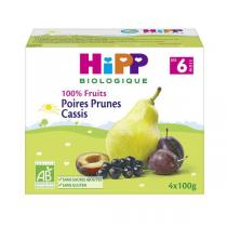HiPP - Pears Plums Blackcurrants 4 Cups x100g