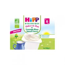 HiPP - Natural sweet white cheese 4x100g