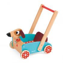 Janod - Lauflernwagen Crazy Doggy, mit Glöckchen
