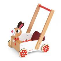 Janod - Lauflernwagen Crazy Rabbit, mit Glöckchen