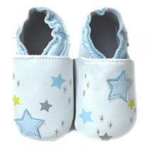 Lait et Miel - Pantofole in cuoio Ciel polaire 0-24 mesi