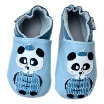 Lait et Miel - Chaussons Cuir Bébé Panda 0-24 mois