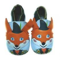 Lait et Miel - Baby Leather Indoor Shoes Mr. Fox 0 - 24 months