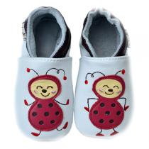 Lait et Miel - Ladybird Leather Indoor Shoes 0-24 months