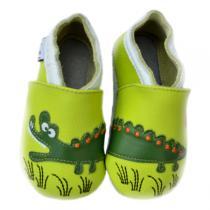 Lait et Miel - Pantofole in cuoio Croc'Savane 0-24 mesi