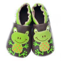 Lait et Miel - Pantofole in cuoio Grenouille 0-24 mesi