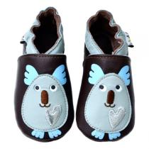 Lait et Miel - Pantofole in cuoio Koala 0-24 mesi