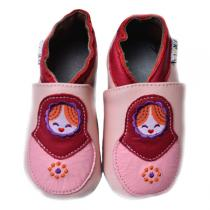 Lait et Miel - Russian Doll style Leather slippers 0-24 months
