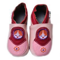 Lait et Miel - Pantofole in cuoio Poupées Russes 0-24 mesi