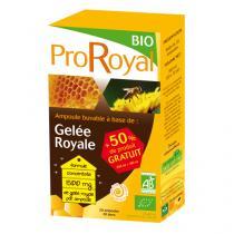 ProRoyal BIO - Gelée Royale BIO - 20 Ampoules de 15mL