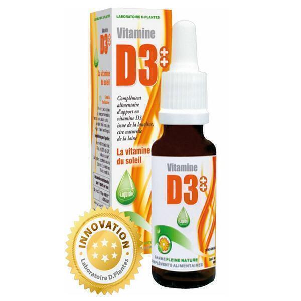 D.Plantes - Vitamine D3 Plus 400UI Huile - Flacon de 20mL
