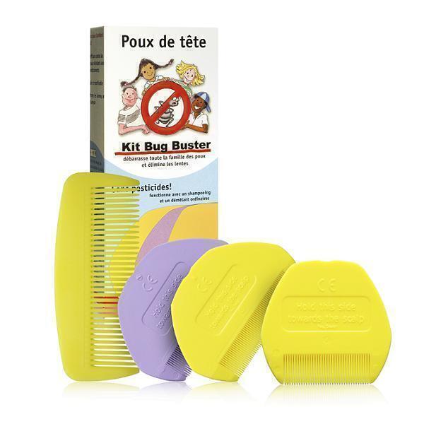 Adieu les poux - Kit antipidocchi Bug Buster®- 5 pettini