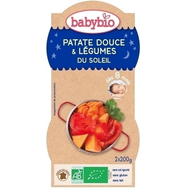 Babybio - 2 Bols Bonne nuit Patates Douces Légumes Dès 8 mois