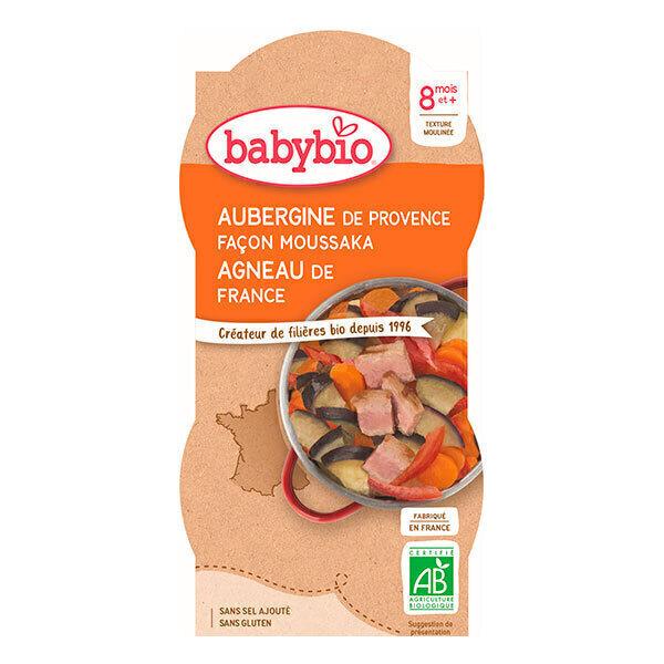 Babybio - 2 bols Moussaka d'Agneau aubergines Dès 8 mois