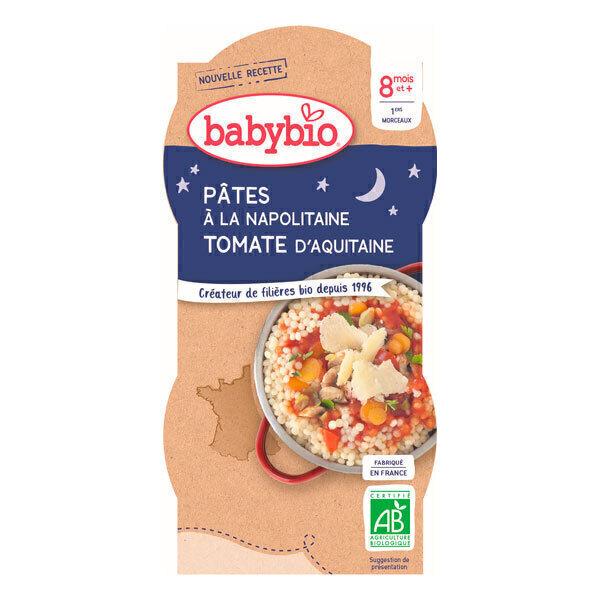 Babybio - Bols Pâtes à la Napolitaine 2 x 200g - Dès 8 mois