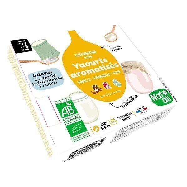 Natali - Ferment pour Yaourts Vanille, Framboise, Abricot 36g