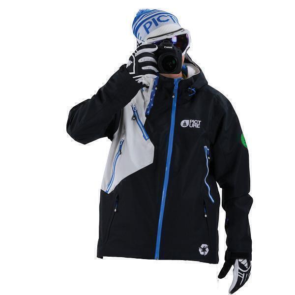Veste de ski femme noir et blanc