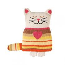 Aroma Home - Bouillotte tricotée lavande et camomille - Chat